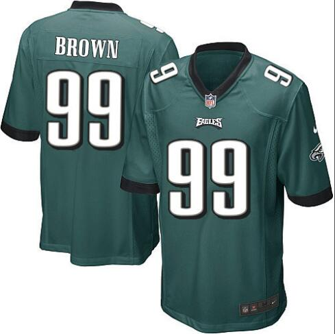 Camiseta del NFL BROWN Verde, Philadelphia Eagles
