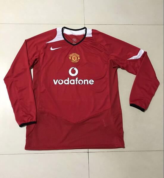 Camiseta del Manchester United Retros Roja ML 2005