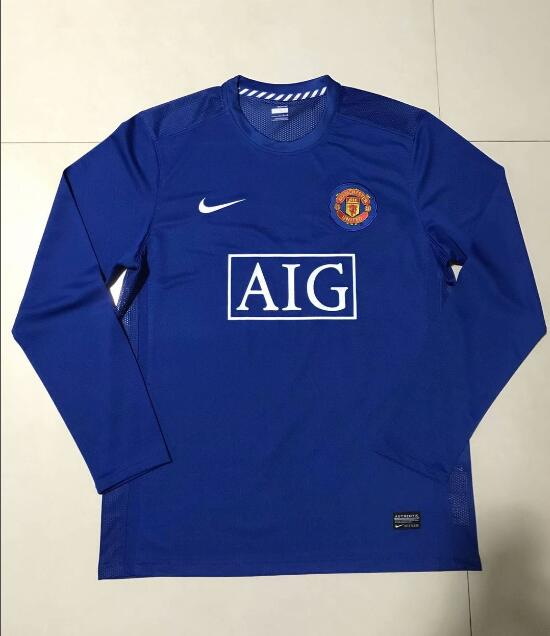 Camiseta del Manchester United Retros Azul ML 2007